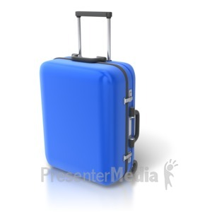 ID# 6975 - Single Luggage Upright - Presentation Clipart