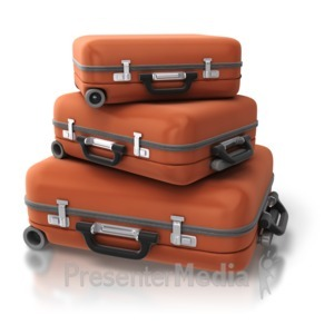 ID# 7002 - Set Of Luggage Stack - Presentation Clipart