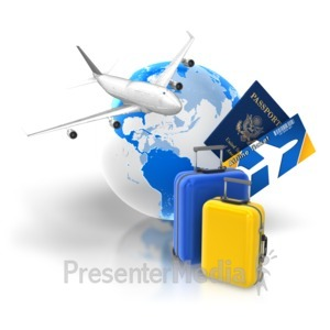 ID# 7026 - Travel Package Tickets Passport - Presentation Clipart