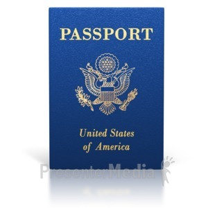 ID# 7035 - United States Passport Booklet - Presentation Clipart