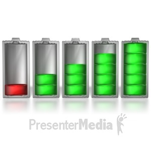 ID# 7041 - Battery Levels - Presentation Clipart