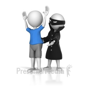 ID# 7066 - Stick Figure Hold Up - Presentation Clipart