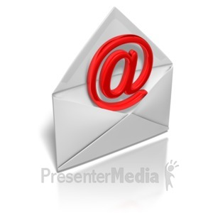 ID# 7126 - Email Envelope - Presentation Clipart