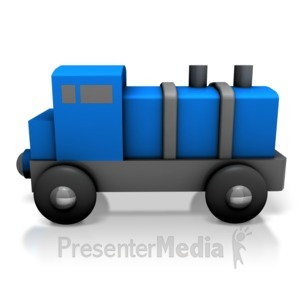 ID# 7130 - Toy Train Engine - Presentation Clipart