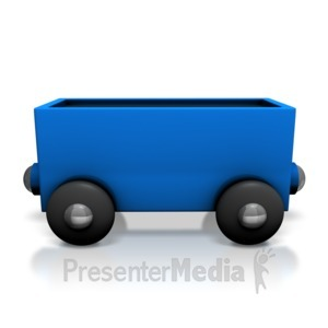 ID# 7132 - Toy Train Coal Car - Presentation Clipart