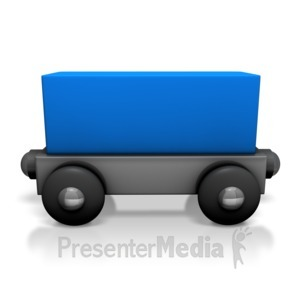 ID# 7133 - Toy Train Cargo Car - Presentation Clipart