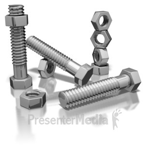 ID# 7155 - Nuts And Bolts - Presentation Clipart