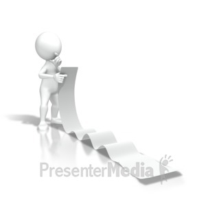 ID# 7156 - Reading Long List - Presentation Clipart