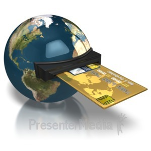 ID# 7202 - World Credit Card - Presentation Clipart