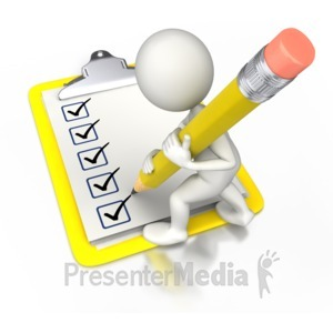 ID# 7226 - Check Off With Pencil - Presentation Clipart