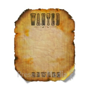 ID# 7238 - Wanted Poster - Presentation Clipart