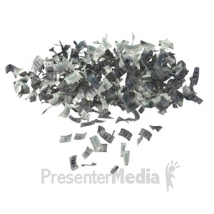 ID# 7259 - Money Cloud Raining Dollars - Presentation Clipart