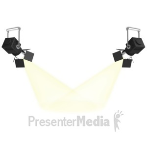 ID# 7487 - Center Stage Spotlight - Presentation Clipart