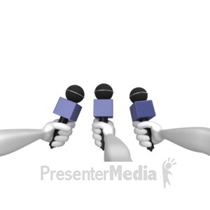 ID# 7488 - Comment To Press - Presentation Clipart