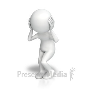 ID# 7492 - Stick Figure Disturbed - Presentation Clipart