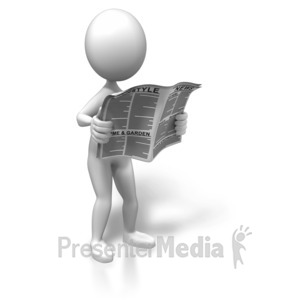 ID# 7509 - Standing With The News - Presentation Clipart
