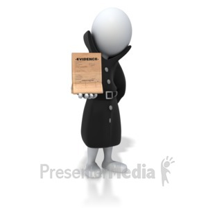 ID# 7561 - Detective Holding Evidence - Presentation Clipart