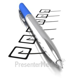 ID# 7579 - Pen Display Accomplished - Presentation Clipart