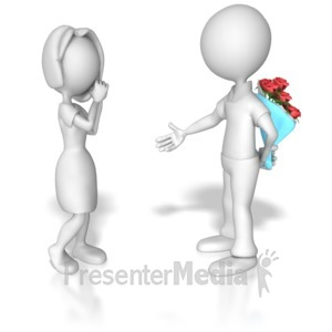 ID# 7588 - Ask Out On Date - Presentation Clipart