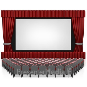 ID# 7621 - Empty Seat Movie Theater - Presentation Clipart