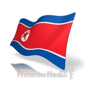 ID# 7623 - North Korean Flag Perspective - Presentation Clipart
