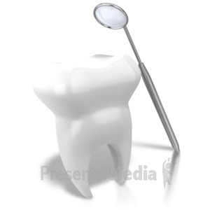 ID# 7649 - Checking Tooth With Mirror - Presentation Clipart