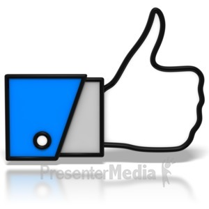 ID# 7661 - Thumbs-Up Icon - Presentation Clipart