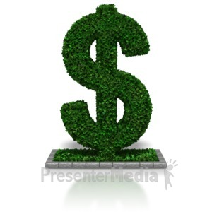 ID# 7664 - Hedge Fund Dollar - Presentation Clipart