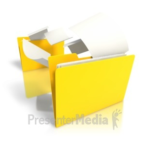 ID# 7681 - Folder Files Transfer - Presentation Clipart