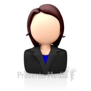 ID# 7684 - Business Icon Woman - Presentation Clipart