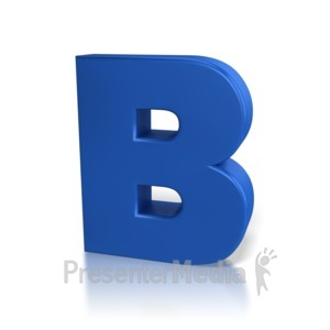 ID# 7760 - Single Letter B - Presentation Clipart