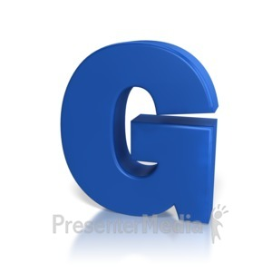 ID# 7765 - Single Letter G - Presentation Clipart