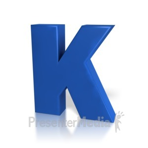 ID# 7769 - Single Letter K - Presentation Clipart