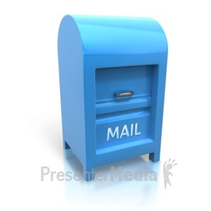 ID# 7772 - Large Upright Mailbox - Presentation Clipart
