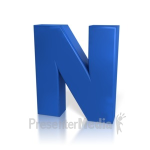 ID# 7774 - Single Letter N - Presentation Clipart