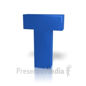 ID# 7780 - Single Letter T - Presentation Clipart
