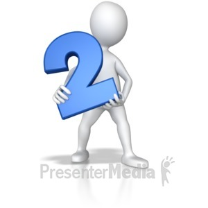 ID# 7791 - Stick Figure Holding Two - Presentation Clipart