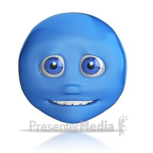 ID# 7837 - Emotion Head Small Smile - Presentation Clipart