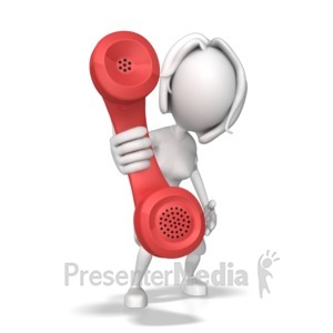 ID# 7869 - Woman Hold Out Phone - Presentation Clipart