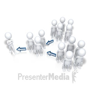 ID# 7901 - Up The Chain Of Command - Presentation Clipart