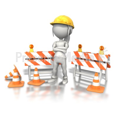 Woman Standing Construction Site PowerPoint Clip Art