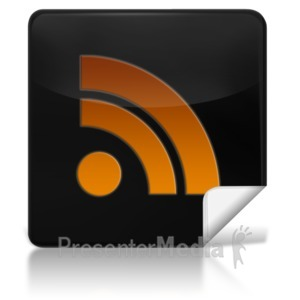 ID# 7974 - RSS Feed Square Icon - Presentation Clipart