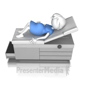 ID# 8008 - Woman Pregnant At Doctors - Presentation Clipart