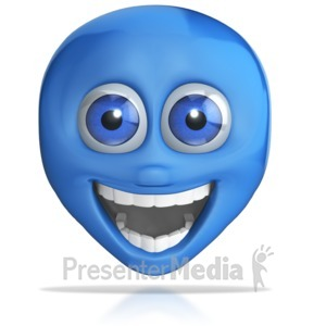 ID# 8032 - Crazy Excited Emotion Head - Presentation Clipart