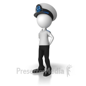 ID# 8078 - Captain At Parade Rest - Presentation Clipart