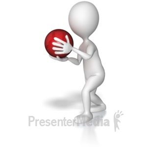 ID# 8084 - Bowler About To Throw - Presentation Clipart