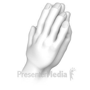ID# 8112 - Praying Hands - Presentation Clipart