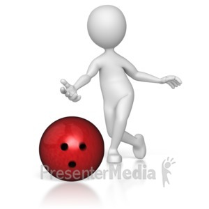 ID# 8114 - Bowler Just Threw - Presentation Clipart