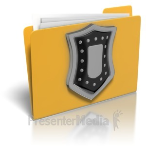ID# 8214 - Folder Shield Protection - Presentation Clipart