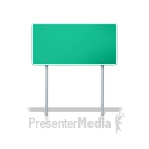 ID# 8236 - Interstate Road Sign - Presentation Clipart